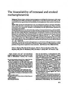 The bioavailability of intranasal and smoked ... - Semantic Scholar
