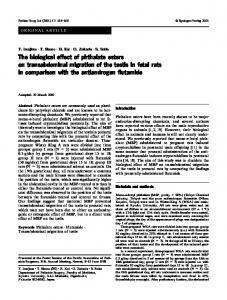 The biological effect of phthalate esters on ... - Springer Link