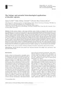 The biology and potential biotechnological