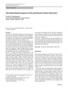 The biomechanical capacity of the periosteum in intact long bones