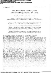 The Black/White Disability Gap: Persistent Inequality in Later Life?