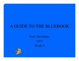 THE BLUEBOOK MADE EASY
