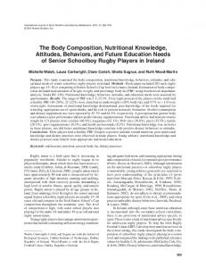 The Body Composition, Nutritional Knowledge ... - Semantic Scholar