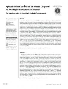 The body mass index applicability in the body fat assessment