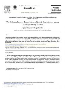 The Bologna Process: Exacerbation of Social ... - ScienceDirect.com