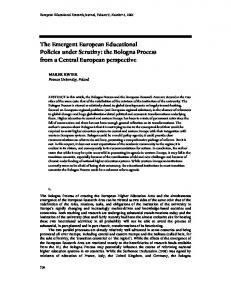 the Bologna Process from a Central European perspective