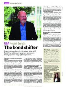 The bond shifter - Nature
