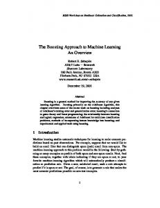 The Boosting Approach to Machine Learning An Overview