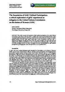 The Boundaries of Girls' Political Participation: a