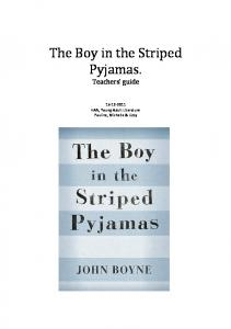 The Boy in the Striped Pyjamas. - YAL - Weebly