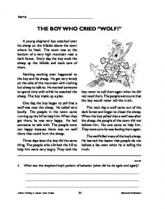"THE BOY WHO CRIED ""WOLF!"" - edWorksheets.com"