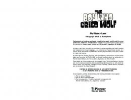 The Boy Who Cried Wolf - Pioneer Drama Service