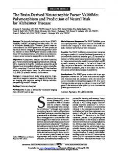 The Brain-Derived Neurotrophic Factor Val66Met
