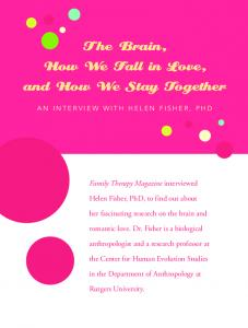 The Brain, How We Fall in Love, and How We Stay Together