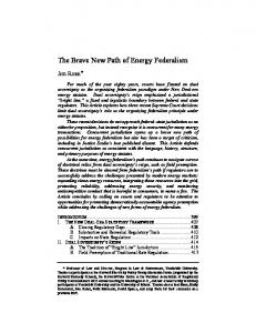 The Brave New Path of Energy Federalism - Texas Law Review
