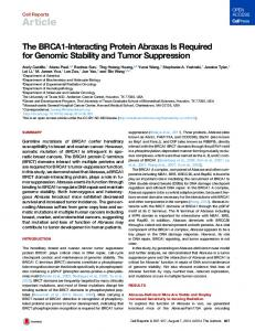 The BRCA1-Interacting Protein Abraxas Is Required for ... - Cell Press