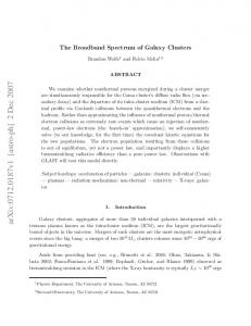 The Broadband Spectrum of Galaxy Clusters