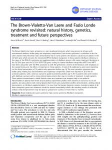 The Brown-Vialetto-Van Laere and Fazio Londe syndrome revisited ...