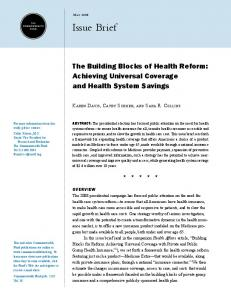 The Building Blocks of Health Reform - The Commonwealth Fund