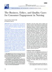 The Business, Ethics, and Quality Cases for