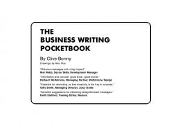The Business Writing Pocketbook - Strategic Management Partners