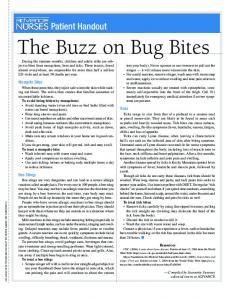 The Buzz on Bug Bites