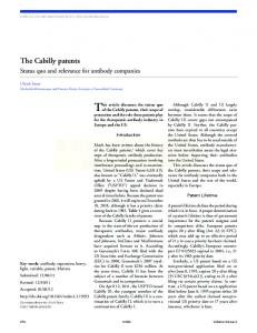 The Cabilly patents