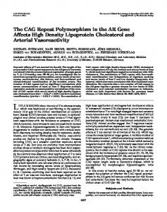 The CAG Repeat Polymorphism in the AR Gene