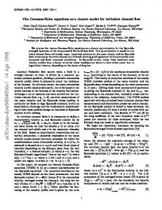 The Camassa-Holm equations as a closure model for turbulent ...