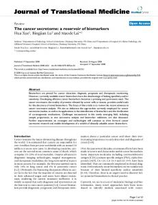 The cancer secretome: a reservoir of biomarkers