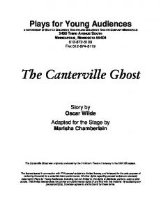 The Canterville Ghost - Plays for Young Audiences