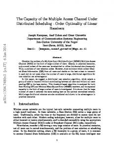 The Capacity of the Multiple Access Channel ... - Semantic Scholar