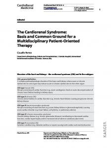 The Cardiorenal Syndrome - Karger Publishers