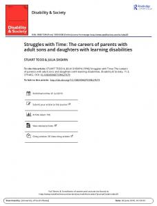 The careers of parents with adult sons and daughters ...