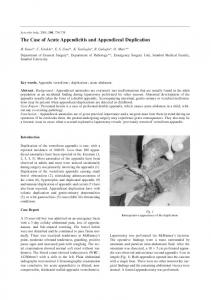 The Case of Acute Appendicitis and Appendiceal Duplication