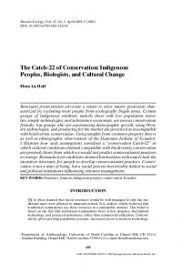 The Catch-22 of Conservation: Indigenous Peoples ... - Springer Link