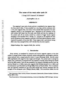 The cause of the weak solar cycle 24