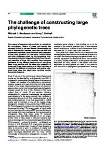 The challenge of constructing large phylogenetic trees - Cell Press