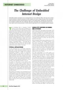 The Challenge of Embedded Internet Design The Challenge of ...