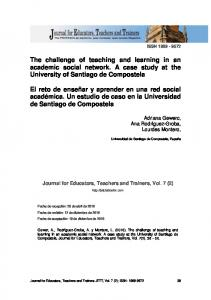 The challenge of teaching and learning in an ...