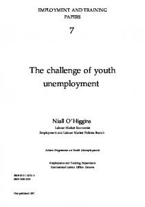 The challenge of youth unemployment - CiteSeerX
