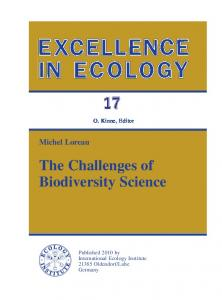The Challenges of Biodiversity Science - Centre for Biodiversity ...