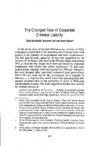 The Changed Face of Corporate Criminal Liability - SSRN papers