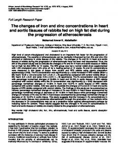 The changes of iron and zinc concentrations in ... - Academic Journals