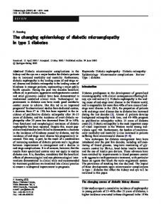 The changing epidemiology of diabetic ... - Springer Link