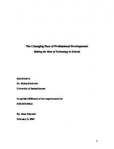 The Changing Face of Professional Development