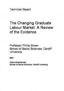 The Changing Graduate Labour Market: A Review of the ... - CiteSeerX