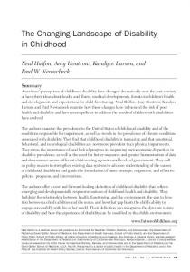 The Changing Landscape of Disability in ... - Princeton University
