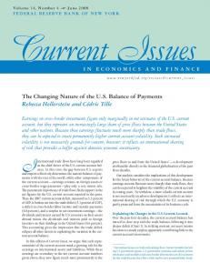The Changing Nature of the U.S. Balance of Payments