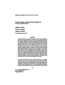 the changing poetics of the dissolve in hollywood ... - Cornell University